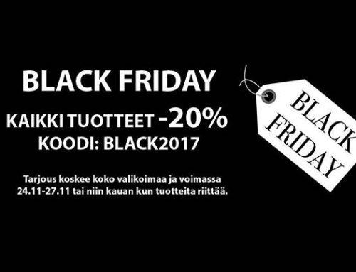 Ceestashopissa Black Friday tarjoukset -20% voimassa koko viikonlopun! Tarjous voimassa sekä verkkokaupassa että myymälässä Töölössä! Hyödynnä huikea tarjous!