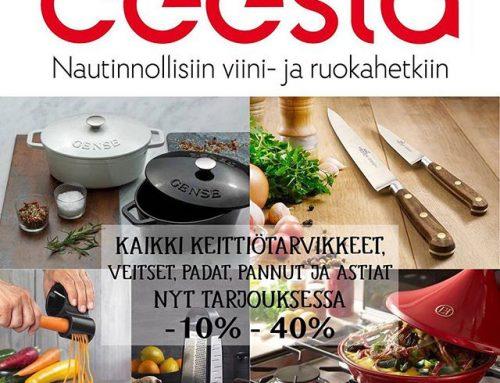 Käy tutustumassa Ceestashopin synttäri tarjouksiin 8 vuotta Nautinnollisiin viini ja ruokahetkiin! keittiötarvikkeitahttps://www.ceestashop.fi/kokkaus-ja-kattaus/ @ceestashop