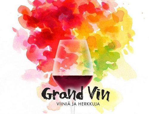 Syksyn päivämäärät kalenteriin eli Grand Vin Helsinki 2018 kaksi päiväinen viinien tapahtuma 12.10.-13.10.2018.